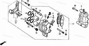 Honda Atv 1986 Oem Parts Diagram For Front Brake