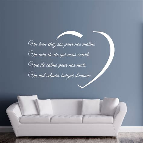stickers muraux citations chambre sticker citation un brin chez soi stickers citations
