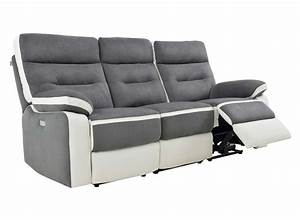 canape relax 3 places orlando With canapé relax electrique 3 places tissu