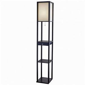 walnut shelf mainstays etagere floor lamp images 56 cool With etagere wood floor lamp