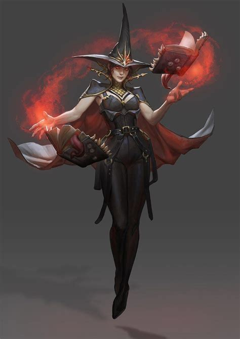 witch concept wizard fantasy character mage deviantart female dark demetra characters magic vampire wizards artwork warrior medieval rpg leather dungeons