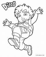 Coloring Diego Printable Dora Sheets Cool2bkids Nickelodeon Books Disimpan Dari sketch template