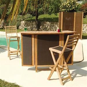 Bar Exterieur De Jardin : meuble jardin eucalyptus photo 8 15 meuble de jardin ~ Dailycaller-alerts.com Idées de Décoration