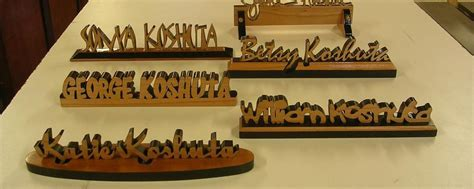Custom Wood Name Plaques and signature desk name plaques