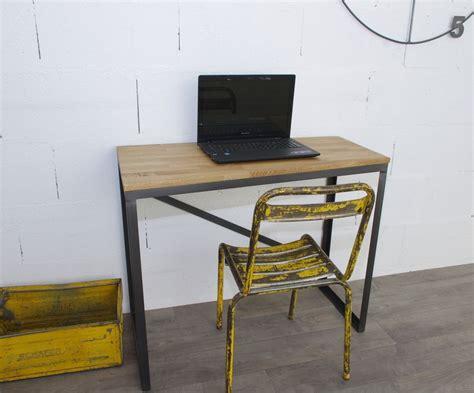 bureau style industriel bureau style industriel sur mesure en chêne et acier