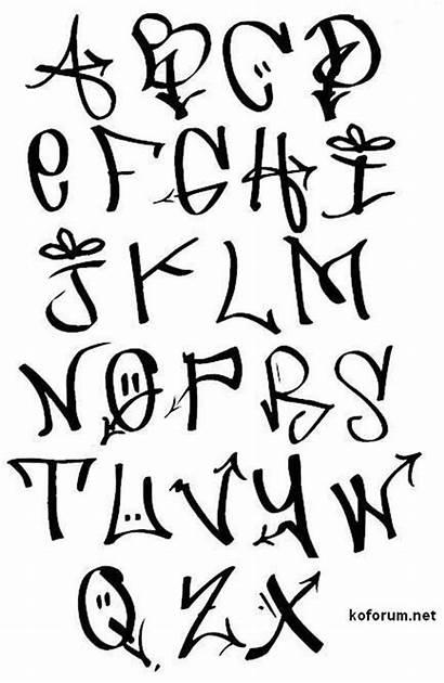 Cool Letters Graffiti Easy Font Fonts Alphabet