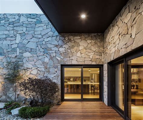 The Layers: Serene Rustic Retreat with Stone Walls Blends