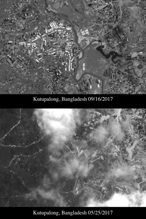 Satellite images show sprawling Rohingya refugee camps