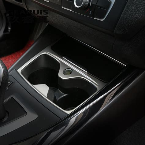 car styling interior water cup holder panel decorative