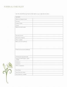 funeral planning checklist office templates With funeral service sheet template