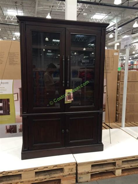 Costco Bayside Bookcase by Bayside Furnishings Glass Door Bookcase Costcochaser