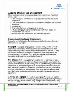 project report employee engagement by mahadev rana With employee engagement resume sample
