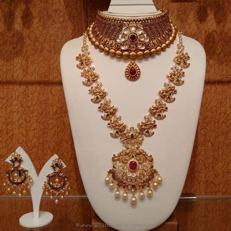 gold antique bridal jewellery sets  naj bridal