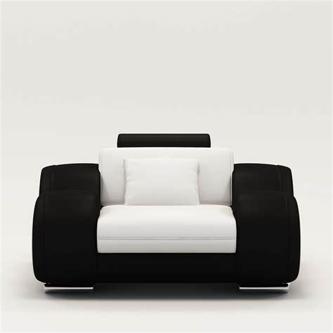 fauteuil blanc et noir atlub
