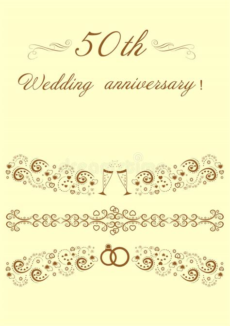 50th Anniversary Invitation Stock Illustration