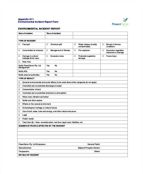 incident report examples samples   pages
