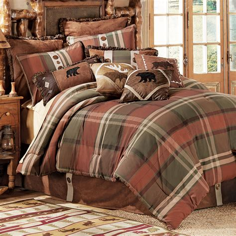 rustic cabin bedding charming plaid bedding for modern