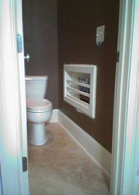 In Wall Magazine Rack For Bathroom  Tracy's Tips For