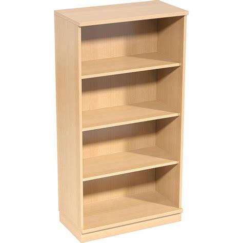 4 shelf open bookcase optimi open bookcase 4 tier 3 shelf