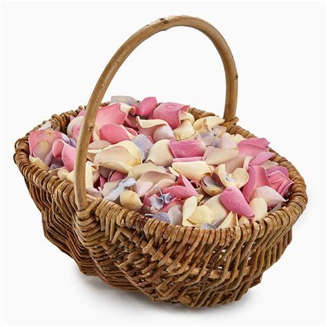 flower girl basket wedding confetti package petals roses