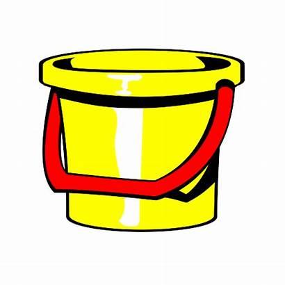 Bucket Clipart Buckets Clip Cliparts Yellow Clipartpanda