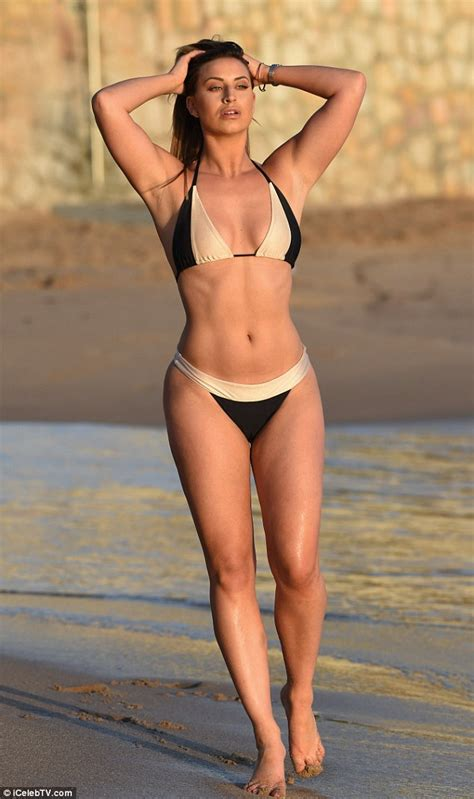 joana preiss bikini ferne mccann displays toned body and pert posterior on