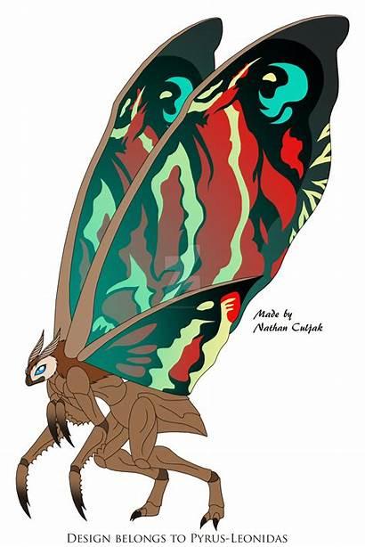 Pyrus Leonidas Mothra Deviantart Redesign Godzilla Monsterverse