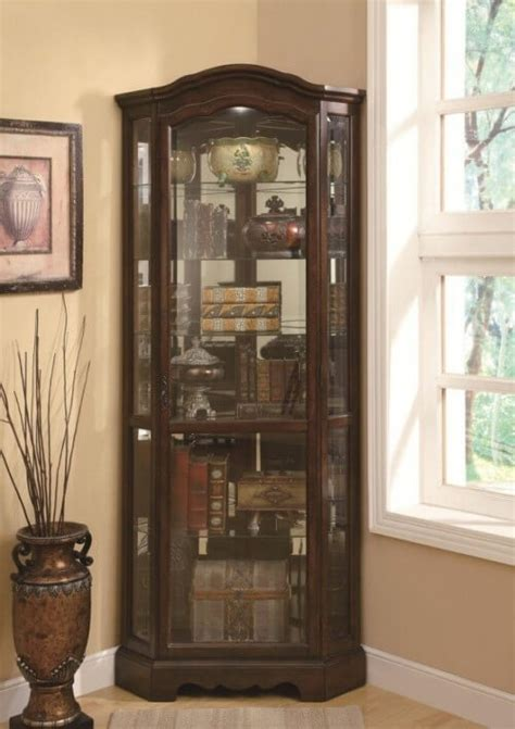 coaster home furnishings contemporary curio cabinet top 10 best corner curio cabinets 2016 home stratosphere