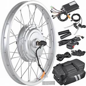 36v 750w 20 U0026quot  Front Wheel Electric Bicycle Conversion Kit
