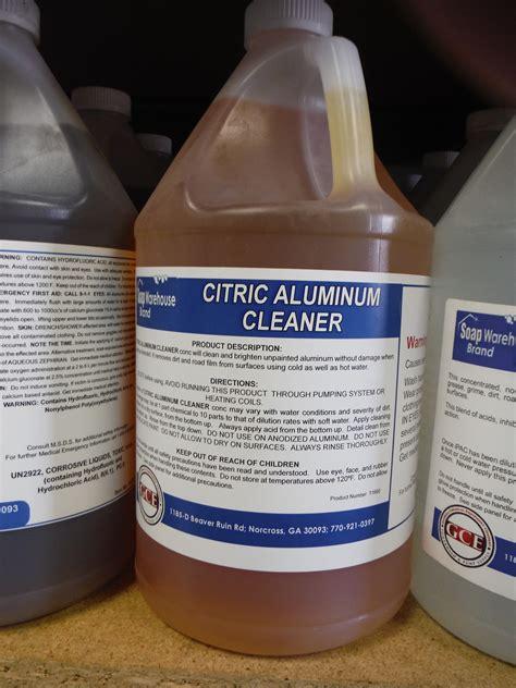 itd citric aluminum cleaner  gallon