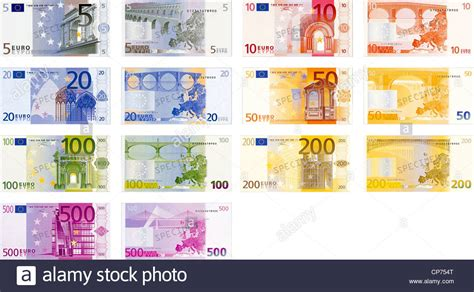 1 rand en euros illustration of a pack of all the existent notes back and stock photo royalty free image