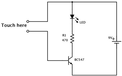 Transistors Circuit Changing The Color Led With