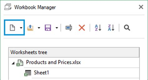 workbook manager for microsoft excel online help