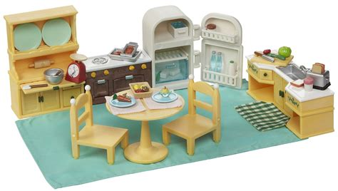 calico critters kitchen duplo large green building plate kitchen sets and