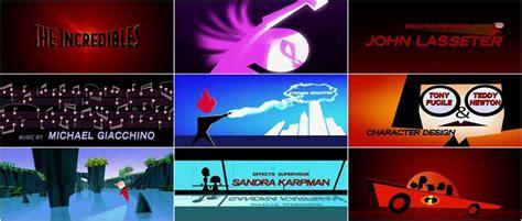 incredibles  credits  pixar animation studios