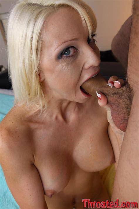 Rikki Six Big Tits Blonde Pornstar Gives Deepthroat Blowjob XXX Gallery for Throated