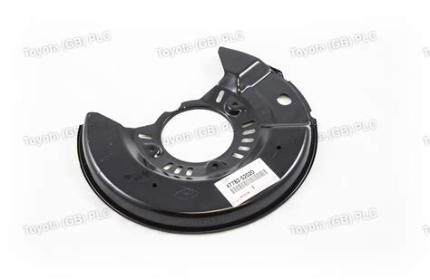 genuine toyota front lh brake disc dust cover yarisecho