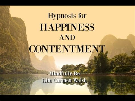 hypnosis  happiness  contentment female voice