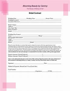 Bridal Hair And Makeup Contract Template Inspirations Of