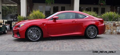 lexus cars red 2015 lexus rc f in red at pebble beach 13