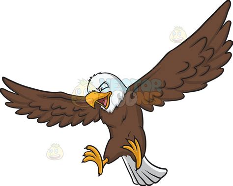 An Eagle That Is About To Land Vector Clip Art Cartoon
