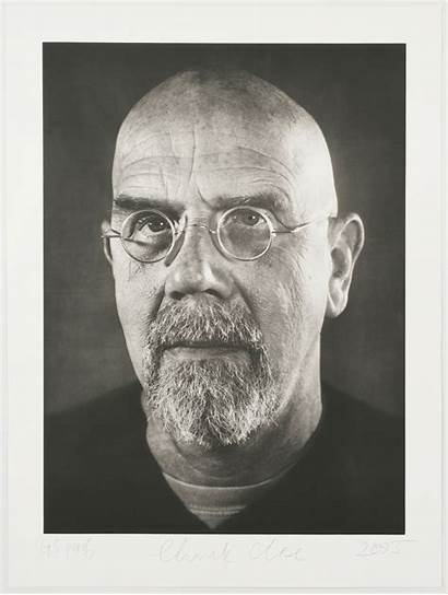 Chuck Close Self Portrait Photogravure Portraiture Artist