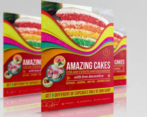 sweet cake  bakery flyer template  owpictures