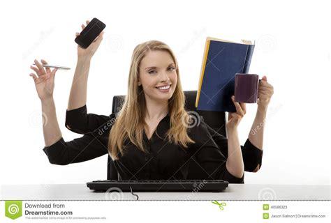 bureau femme femme occupée à bureau photo stock image 40586323