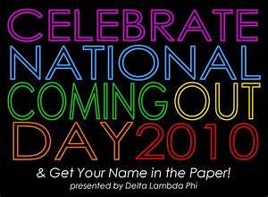 National Coming Out Day   Delta Lambda Phi
