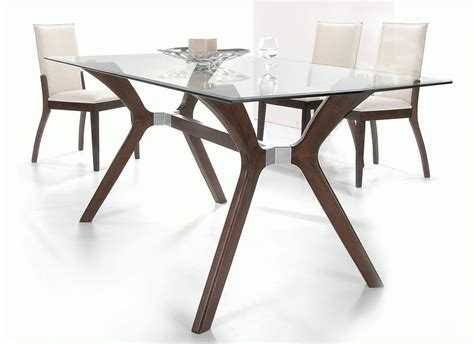 glass top dining table sets stylish wooden and clear glass top leather dining set