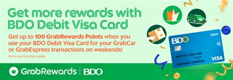 The point debit card comes with an annual fee of $49. Earn GrabRewards points with BDO Debit Visa Card! | Grab PH