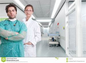 Serious hospital staff stock image. Image of medic, gurney ...