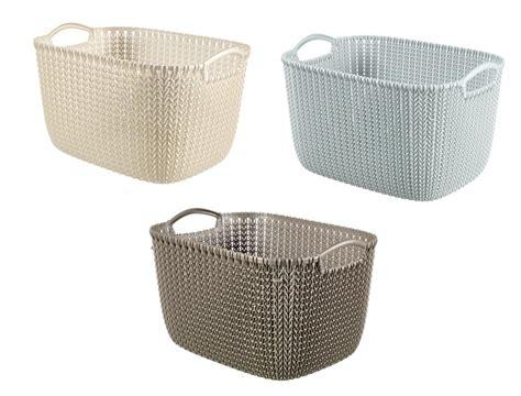 kitchen storage baskets curver knit collection rectangle handled plastic kitchen 3119