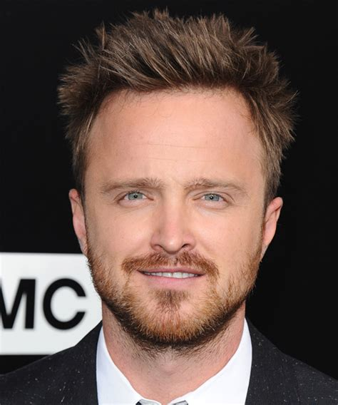 aaron paul casual short straight hairstyle